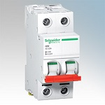 Schneider Acti9 MCB A9N2P02C (2A,DP)